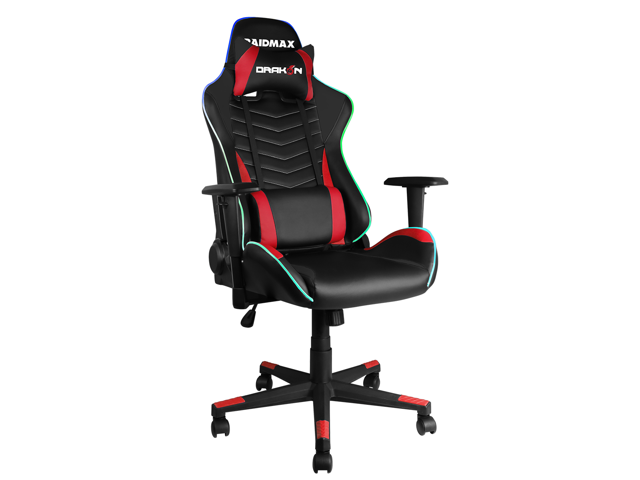Stupendous Drakon Rgb Lighted Gaming Chair Racing Office Chair High Back Computer Desk Chair Pu Leather Chair Executive And Ergonomic Swivel Chair With Headrest Alphanode Cool Chair Designs And Ideas Alphanodeonline