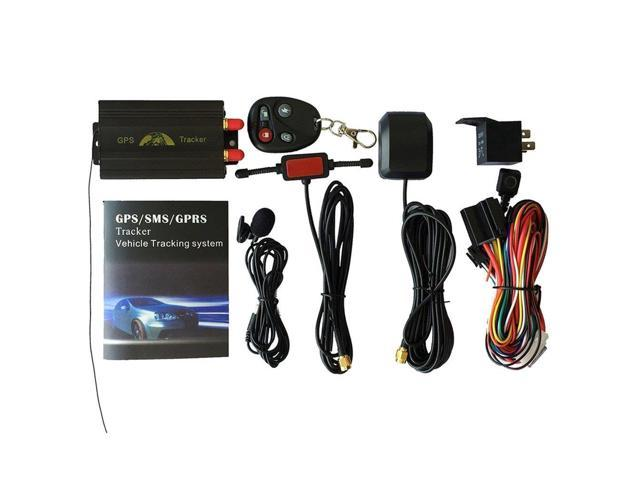 Portable Car GPS Tracking System GPS SMS GPRS Vehicles Tracker Locator  TK103B Black - Newegg com