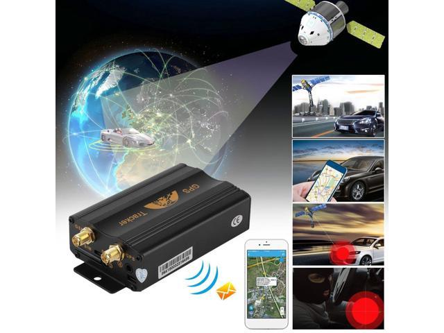 Auto Tracking System GPS Tracker Car SMS GPRS Tracking Device With Aerial  black - Newegg com