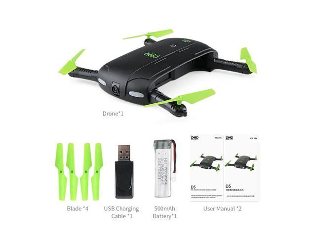 DHD D5 Wifi FPV 480P Camera Foldable Selfie Drone Altitude Hold RC  Quadcopter - Newegg com