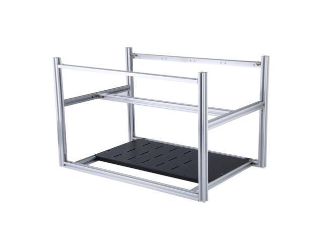 Professional GPU Mining Miner Rig Aluminum Stackable Case Up To 6GPU Open  Air Computer Frame Rack Bracket - Newegg com