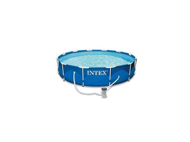 OEM Intex 28211EH Swimming Pool Metal Frame Set With Filter Pump Above  Ground Pools 12\' x 30\