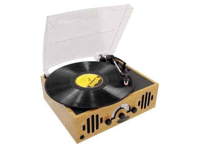 AM//FM Built-in Speakers iPod//AUX-Input Pyle PVNTTR22 Turntable 33//45//78 RPM
