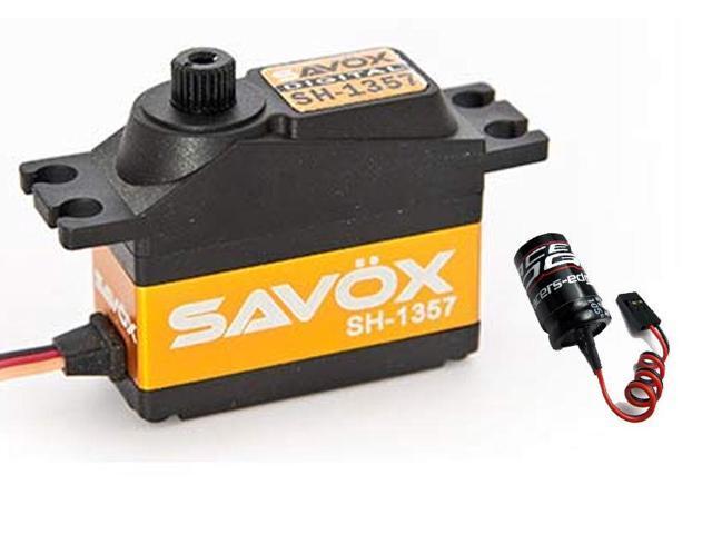 Savox SH-1357 Super Speed Mini Digital Servo w/ Free Glitch Buster -  Newegg com