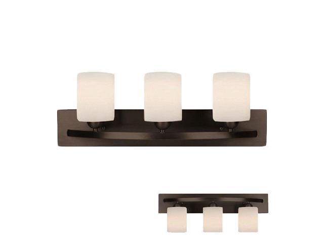 Oil Rubbed Bronze Three Globe Bathroom Vanity Light Bar: Oil Rubbed Bronze 3 Globe Bath Vanity Light Bar Fixture