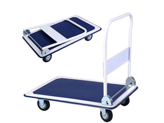b693c5bbabe8 660lbs Platform Cart Dolly Folding Foldable Moving Warehouse Push Hand  Truck New - Newegg.com