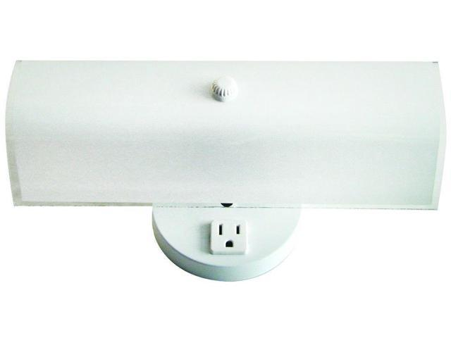 Bathroom Light Fixture With Outlet Plug: 2 Bulb Bathroom Vanity Light Fixture Wall Mount With Plug
