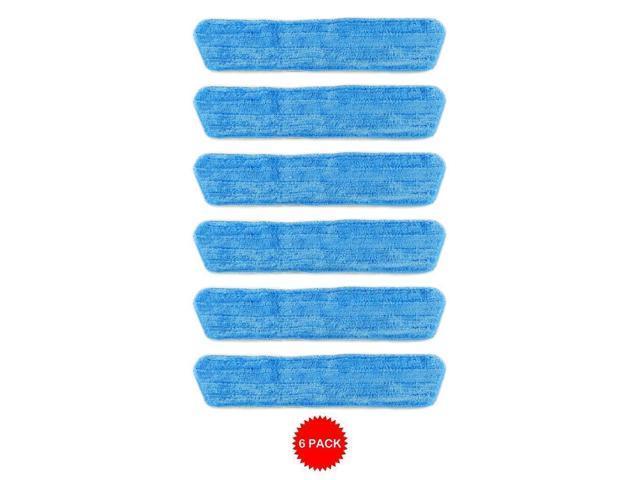 6 Blue Microfiber Dust Mop Pads Refill Fits Starfiber, Bona, Libman,  Scoth-Brite - Newegg com