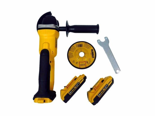 New Dewalt Grinder DCG412 20V Cordless Cut-Off Tool DCB203x2 2.0Ah Battery