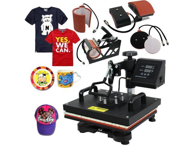 5 In 1 Digital Heat Press Machine Sublimation For T-Shirt/Mug/Plate Hat  Printer - Newegg com