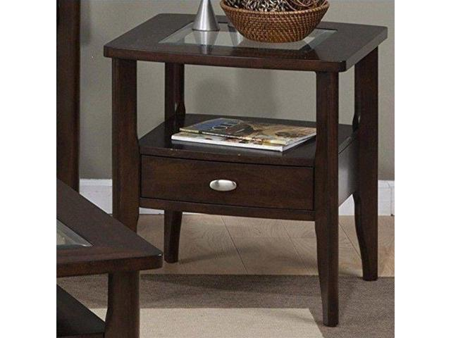 Jofran 827 Series Square End Table With Small Drawer In