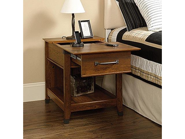 Sauder 413350 Carson Forge Smartcenter Side Table Washington Cherry Finish New