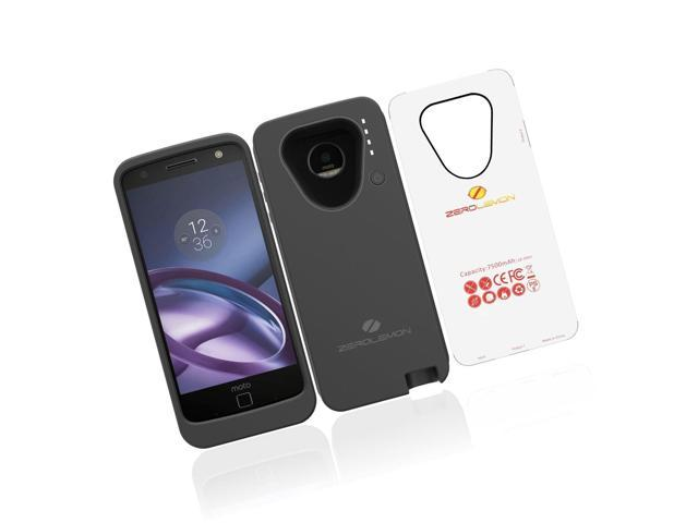 online retailer dec61 082da Motorola Moto Z Battery Case ZeroLemon Moto Z 7500mAh Extended Battery with  S... - Newegg.com