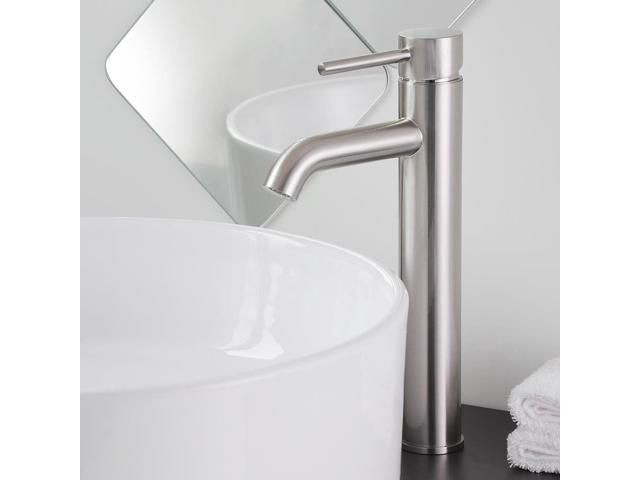 """New 12 Modern Contemporary Bathroom Faucet Vessel Sink: 12"""" Modern Vessel Brushed Nickel Bathroom Sink Faucet One"""
