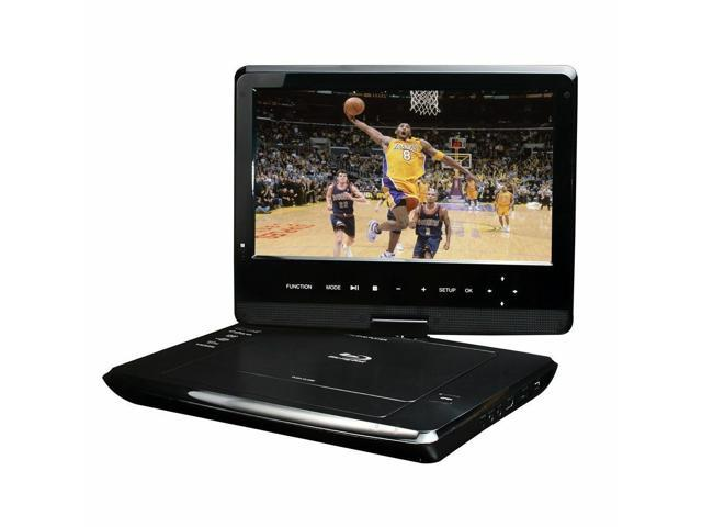 New Blu-Ray DISC/DVD Player Swivel Screen Maxmade Portable 10 1