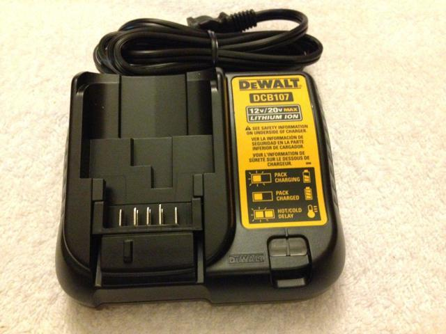 Refurbished: New Dewalt DCB107 12V & 20V Max Li-ion Battery Charger  replaces DCB100 & DCB112 - Newegg com
