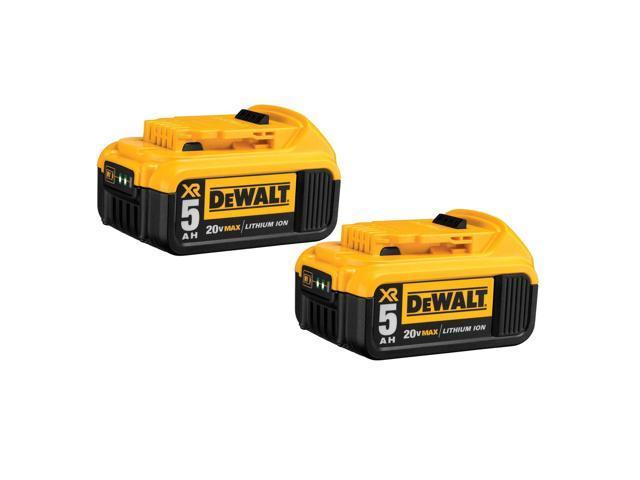 DeWALT DCB205-2 20V MAX Premium XR 5 0Ah Lithium Ion Power Tool Battery - 2  Pack - Newegg com