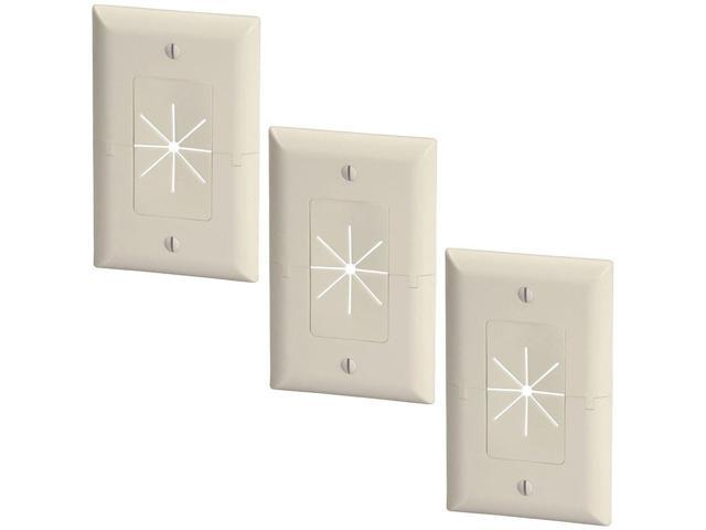 Fine 3X 1 Gang Wall Plate Low Voltage Split Flexible Tv Av Cable Pass Wiring Digital Resources Nekoutcompassionincorg