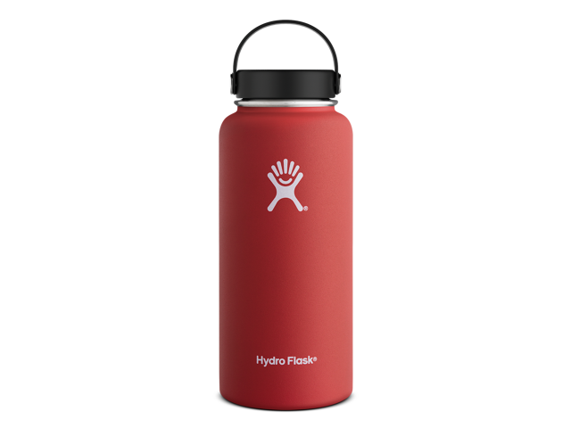 d3d5fd0da8 Hydro Flask 32 oz Vacuum Insulated Stainless Steel Water Bottle, Wide Mouth  w/Flex