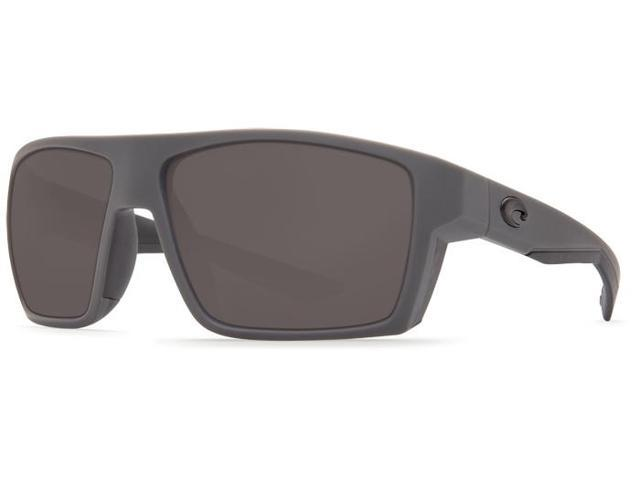 a448bfdc66 Costa Del Mar Bloke BLK 127 Matte Gray Matte Black Sunglasses Grey Lens 580P