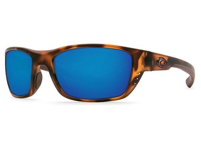 5d7f736b8bdac Costa Del Mar Whitetip WTP 66 Matte Retro Tort Sunglasses Blue Mirror Lens  580G
