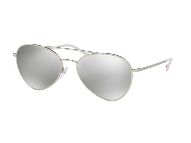 5119eb2c4389 Prada Sport 0PS 50SS Sun Full Rim Phantos Unisex Sunglasses - Size 57 (Matte  Silver
