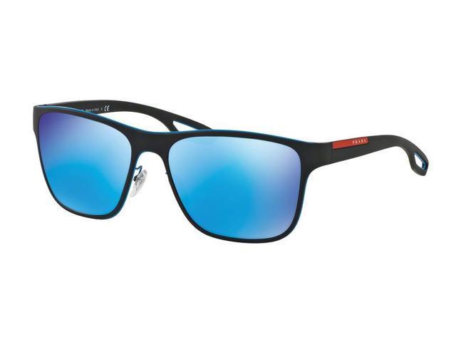 6f8c928b523 Prada Sport 0PS 56QS Sun Full Rim Square Unisex Sunglasses - Size 56 (Azure