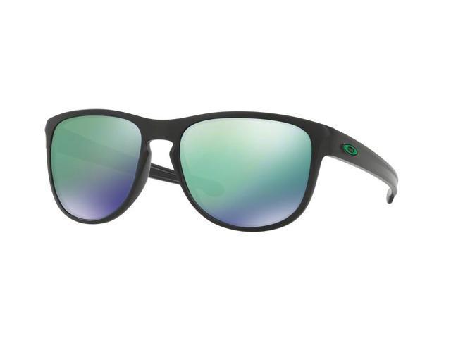 c2e5981d066 Oakley Polarized Sung 0OO9342 Sliver R Rectangle Unisex Sunglasses - Size  57 (Matte Black   Jade Iridium)