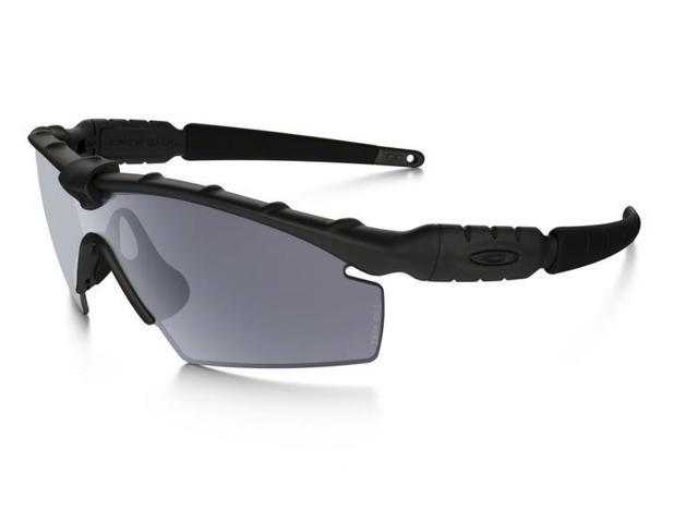 7b922528da72 Oakley Sun 0OO9213 Ballistic M Frame Rectangle Unisex Sunglasses - Size 32 ( Matte Black /