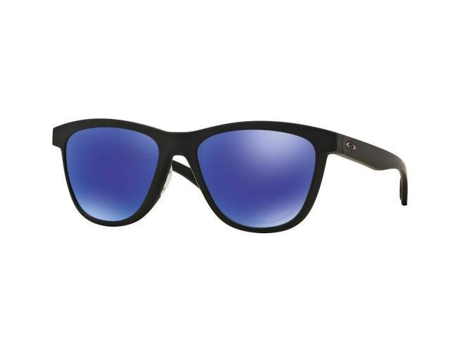 b023905f51 Oakley Sun 0OO9320 Moonlighter Round Woman Sunglasses - Size 53 (Matte Black    Violet Iridium