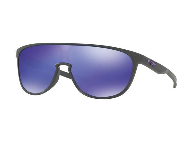 05557ddf8ec Oakley Sun 0OO9318 Trillbe Rectangle Unisex Sunglasses - Size 34 (Steel /  Violet Iridium)