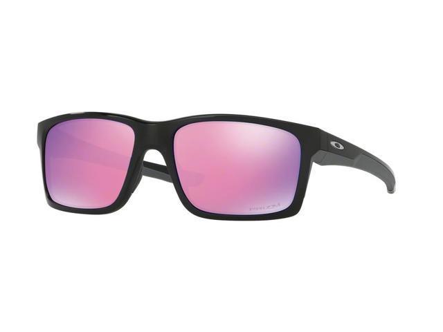 baf5208dcfadf Oakley Sun 0OO9264 Mainlink Rectangle Unisex Sunglasses - Size 57 (Polished  Black   Prizm Golf