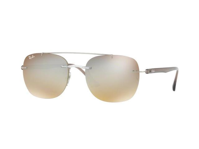 2c5195fe96bc8 Ray-Ban 0RB4280 Rimless Square Unisex Sunglasses - Size 55 (Gradient Brown  Mirror Silver