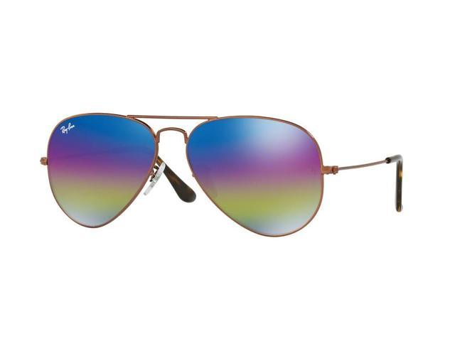 2daa3c8653993 Ray-Ban 0RB3025 Full Rim Pilot Unisex Sunglasses - Size 62 (Light Grey  Mirror