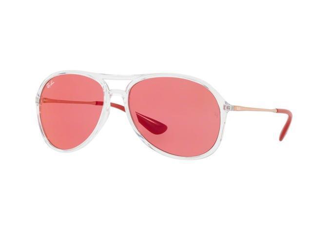 19f171ba29 Ray-Ban RB4201 Alex 59mm Sunglasses (Clear Frame Polarized Red Flash Lens)