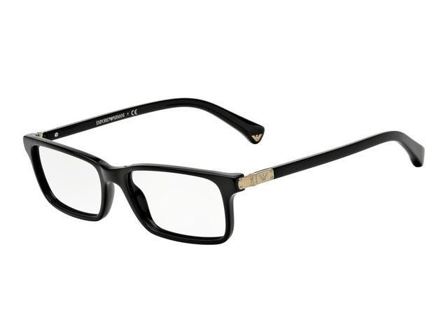 5d55a705a396 EMPORIO ARMANI Eyeglasses EA 3005F 5017 Black 53MM ...