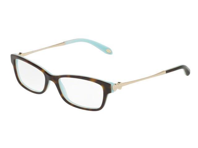 235c53ea086 Tiffany 0TF2140 Full Rim Rectangle Womens Eyeglasses - Size 51 (Havana Blue)