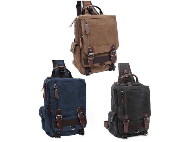 4663c5f3e187 Free Style Canvas Shoulder Message Sling Bag Outdoor Cross body Sports Bag  Handbag for Men