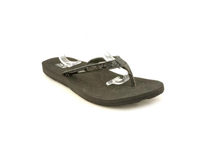 9425acd2c Teva Contoured Ribbon Mush-Paparazzi Women US 6 Black Flip Flop Sandal