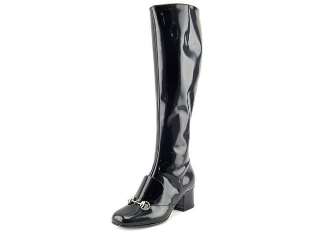 ea841f45f Gucci Lillian Horsebit Patent Leather Knee-High Boots Women US 5.5 ...