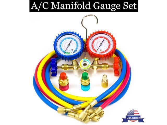 R12 R22 R134a R502 Manifold Gauge Set HVAC A/C Refrigeration Charging  Service - Newegg com