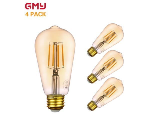 Vintage Led Edison Bulb 4 5w Dimmable St19 Amber Light 40w Incandescent