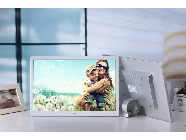 15.4 Inch 1280x800 HDMI Metal LED Digital Photo Frame with 16GB ...