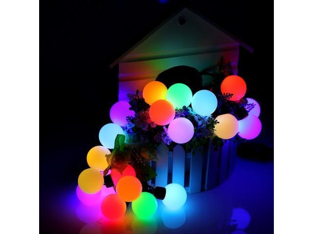 Christmas 16ft 50 Led Rgb Ball String Lights Bulb Color Changing Novelty Fairy Globe For Wedding Birthday Party Xmas Tree Garden Patio Holiday