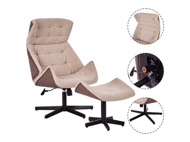 Cool Executive Recliner Chair Lounge Leisure Chair Adjustable Height Swivel W Ottoman Ncnpc Chair Design For Home Ncnpcorg