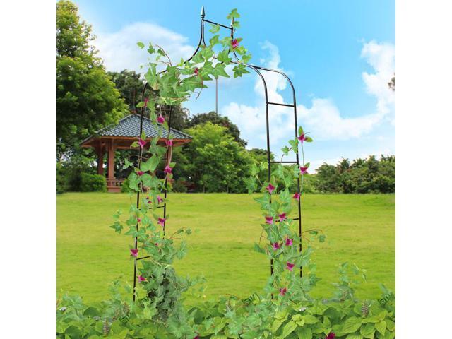 8 4 High X 4 7 Wide Steel Garden Arch Rose Arbor Climbing Plant