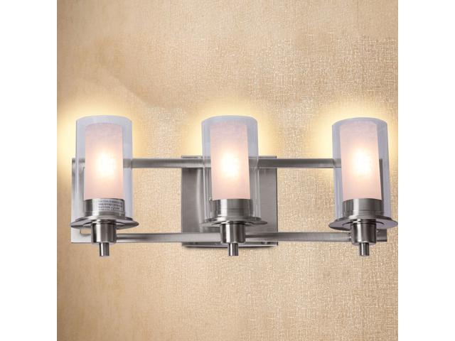 "20.5"" 3-Light LED Vanity Fixture Brushed Nickel Wall"