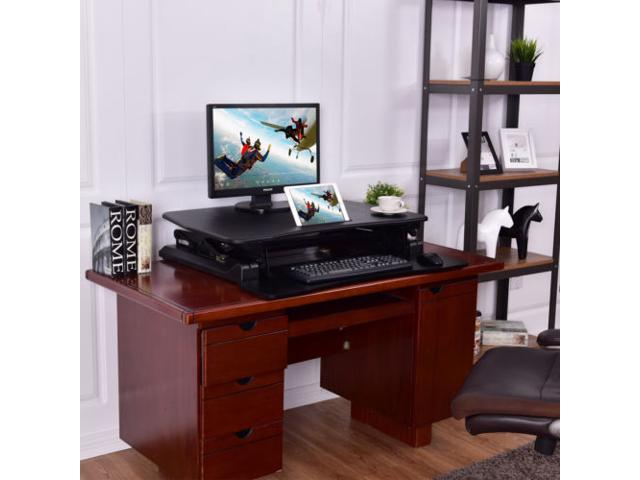 Height Adjule Stand Up Desk Computer Workstation Lift Rising Laptop