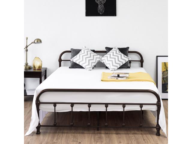 050b2c180278 Queen Size Metal Steel Bed Frame W/ Stable Metal Slats Headboard And  Footboard