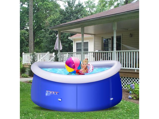 Giant Inflatable Above Ground Swimming Pool 8FT x 30inch Easy-Set ...